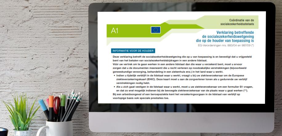 In Nederland vraag je de A1-verklaring aan bij de SVB.